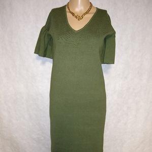 Lauren Ralph Lauren Bell Sleeve Green Dress NWT
